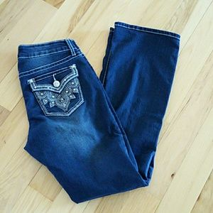 Women's A.n.a. Size 8 Dark Denim Jeans, Bling!